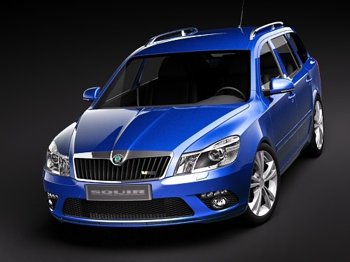 skoda octavia rs combi automobile 2010 3d model max 3ds 2