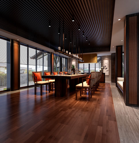 3D Exotic Dining Space With Fancy Decor