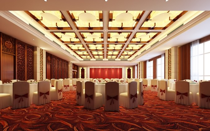 D model luxury restaurant interior cgtrader