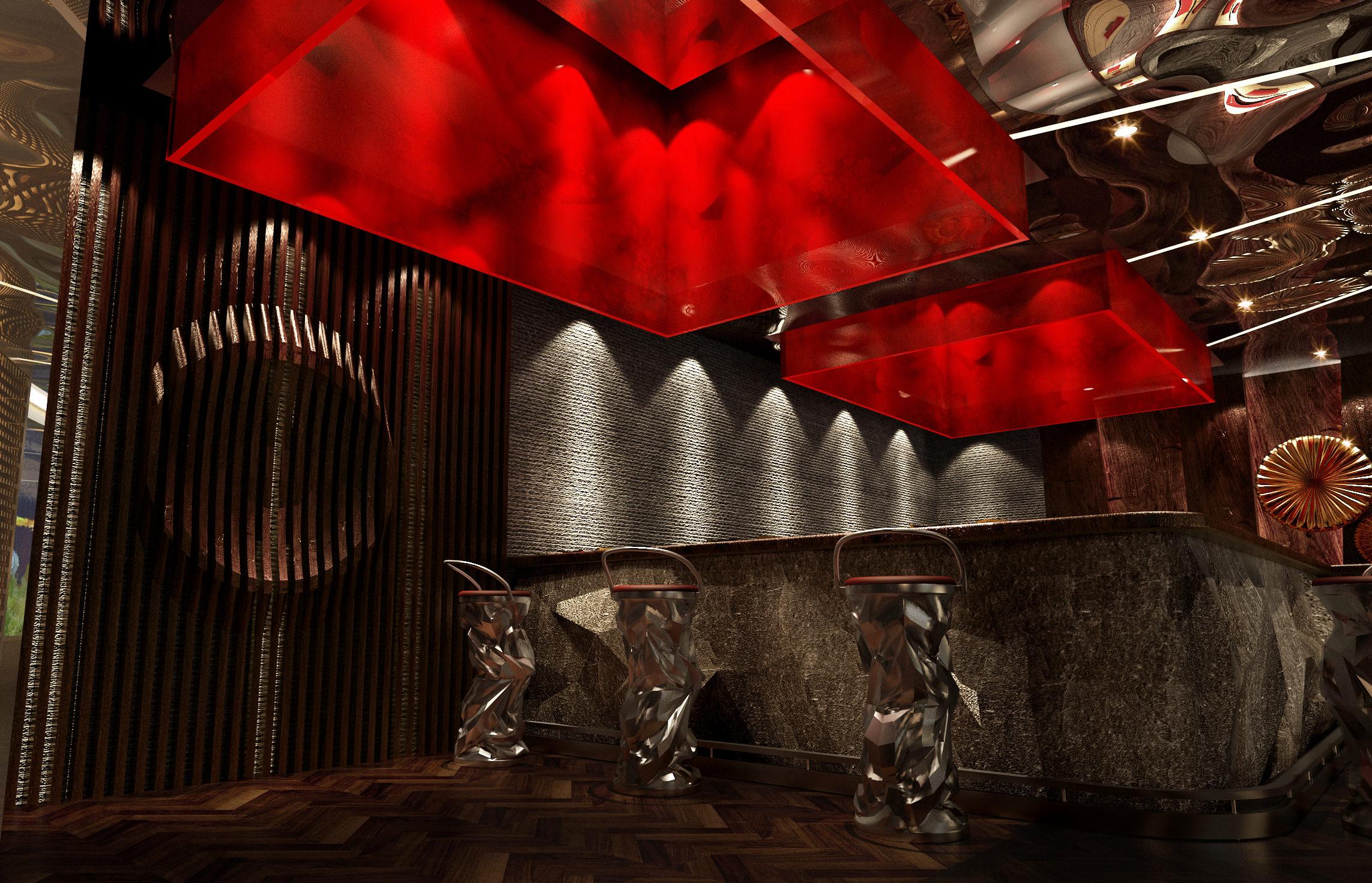 Restaurant Wall Decor 3d model restaurant with high-end wall decor | cgtrader