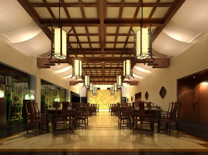 D classy restaurant structure cgtrader