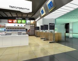 posh restaurant interior 3d model