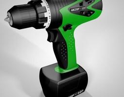 3d model electric screwdriver