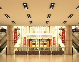 posh store interior for malls 3d