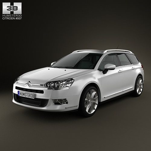 citroen c5 tourer 2011 3d cgtrader. Black Bedroom Furniture Sets. Home Design Ideas