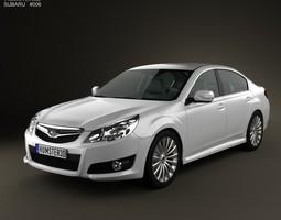 3D Subaru Legacy Liberty sedan 2010