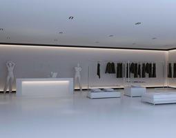 store with aristocratic interior 3d