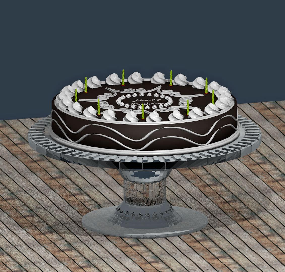 ... cake and serving platter 3d model obj 2 ... & cake and serving platter 3D | CGTrader