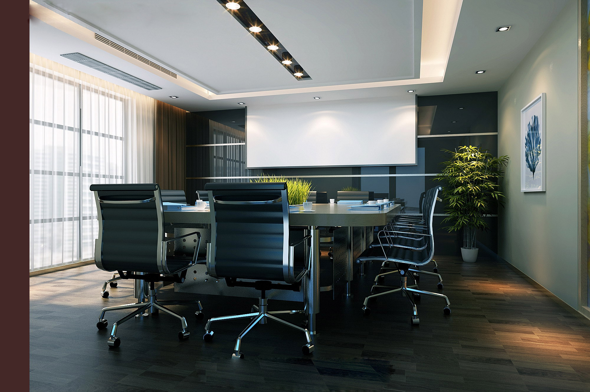 3D model Conference Room with Stylish Furniture CGTrader