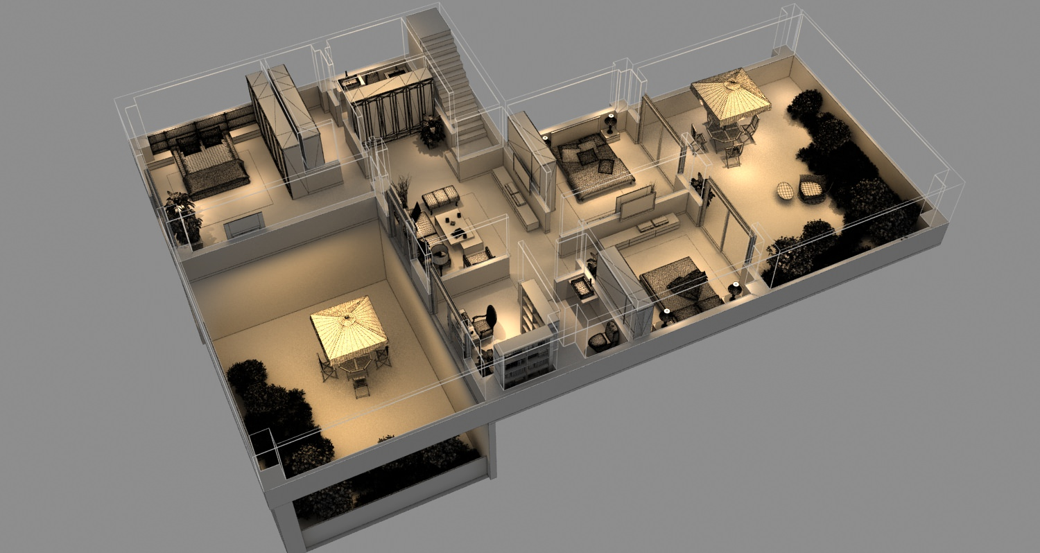 Isometric house 3d model max for 3d printer house for sale