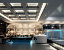 3D model Lounge with Aristocratic Interior