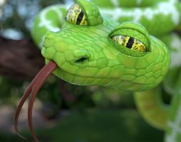 Cartoon snake 3D model