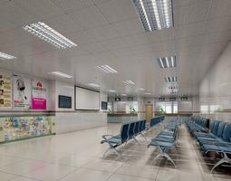 3D model Hospital Lobby with Vogue Interior