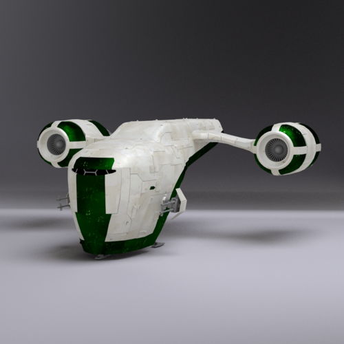 space gunship 3d model obj 3ds lwo lw lws blend mtl 1