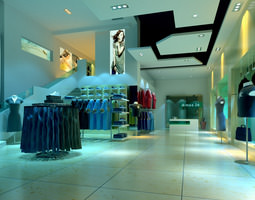 fashionable clothing store 3d