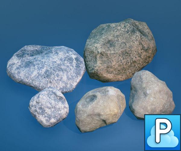 stones 3d model fbx tga 1
