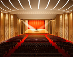 Theater with High-end Lighting 3D