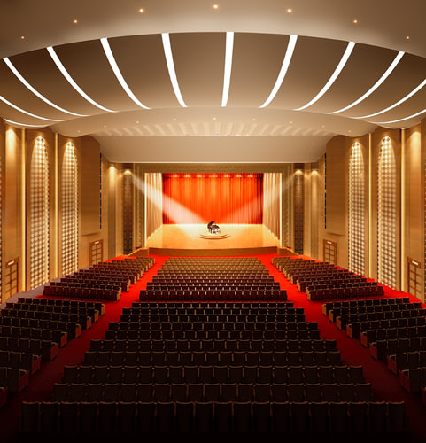 theater with high-end lighting 3d model max 3ds 1