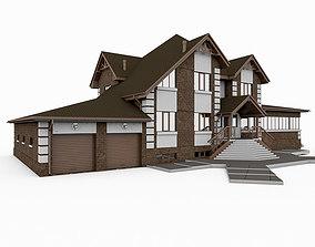 European Big Stone House 3D model