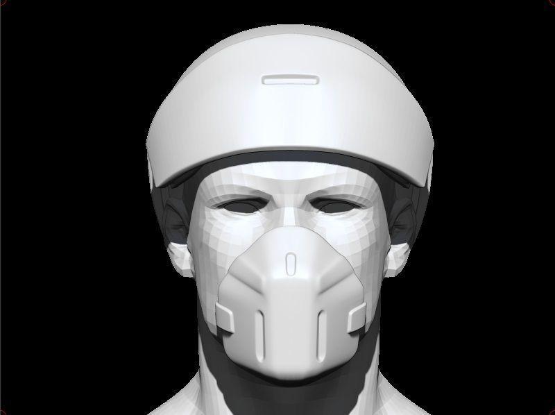 Medic sci-fi helmet