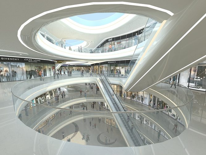 exquisite shopping mall interior 3d model max obj mtl fbx tga 1