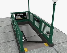 3D NYC Subway Entrance