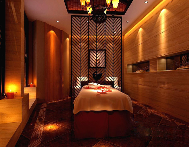 spa room with exquisite partition frame 3d model max 1