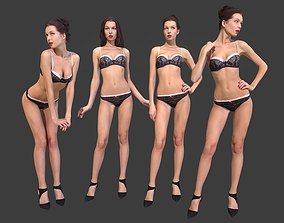 Scanned Girl Pack 3D asset
