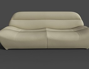 sofa 3D model low-poly couch