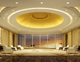 3D Antechamber with Round False Ceiling