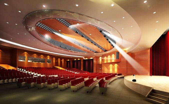 Auditorium Room with Grand Interior | 3D model
