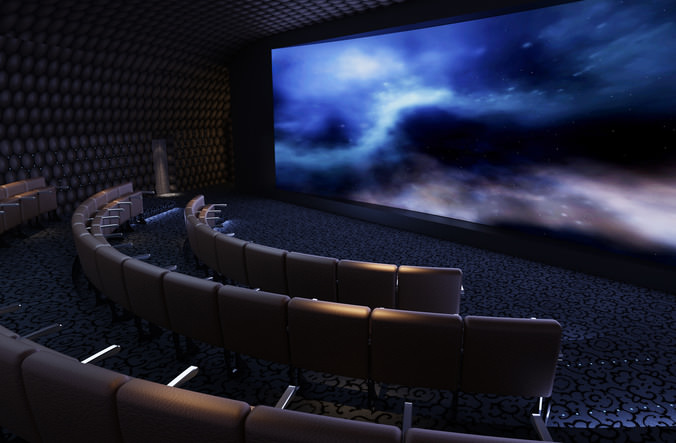 3d Model Exquisite Theater Interior Cgtrader