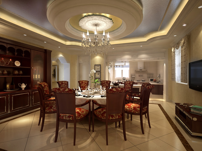 Luxury Dining Room Luxury Dining Room With High End Decor 3D Model MAX