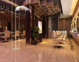 3D model High-end Hairdressing Room