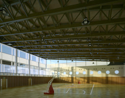 3D Basketball Court with Skylight
