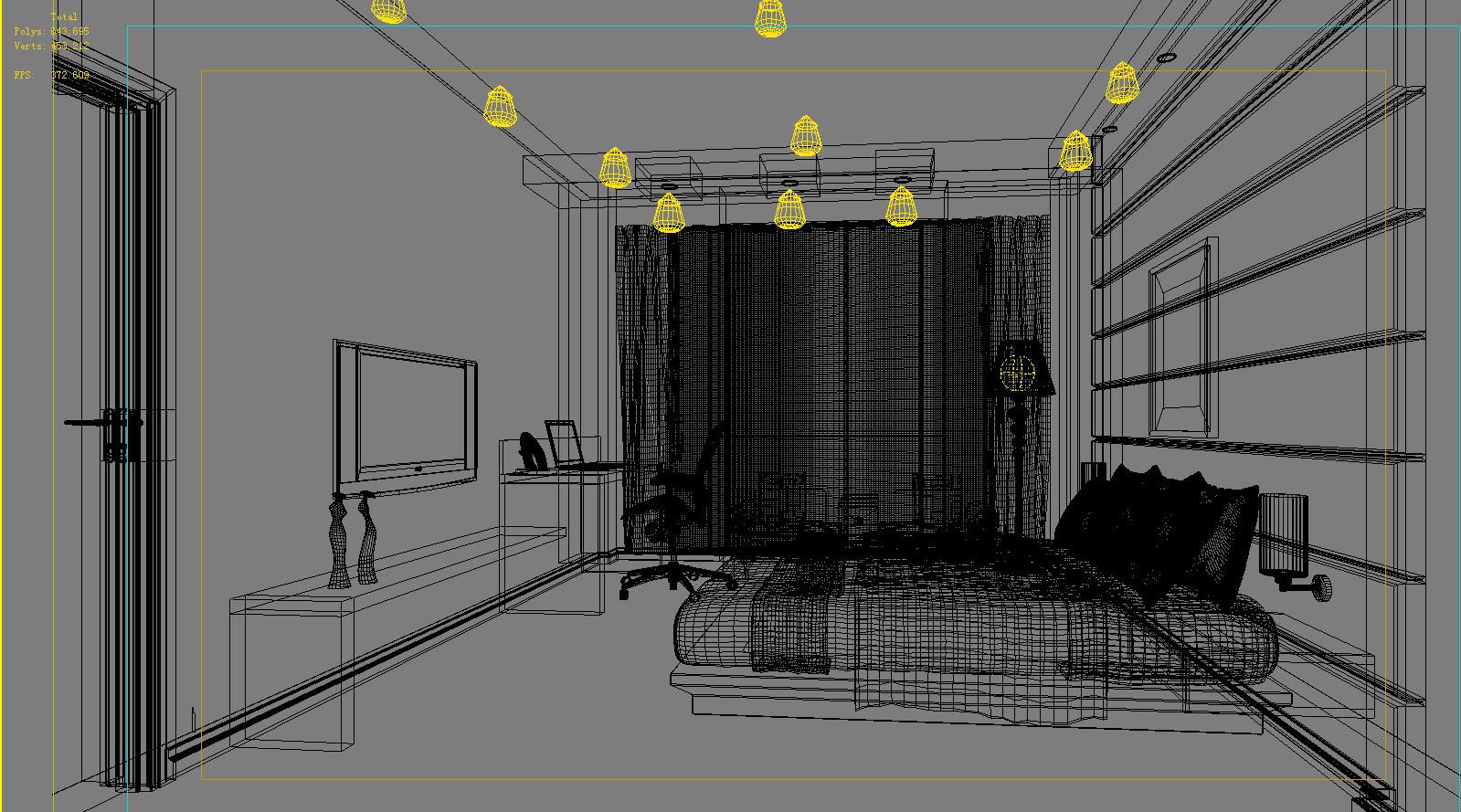 Deluxe Guest Room With Plasma Tv 3d Cgtrader # Plasma De Luxe