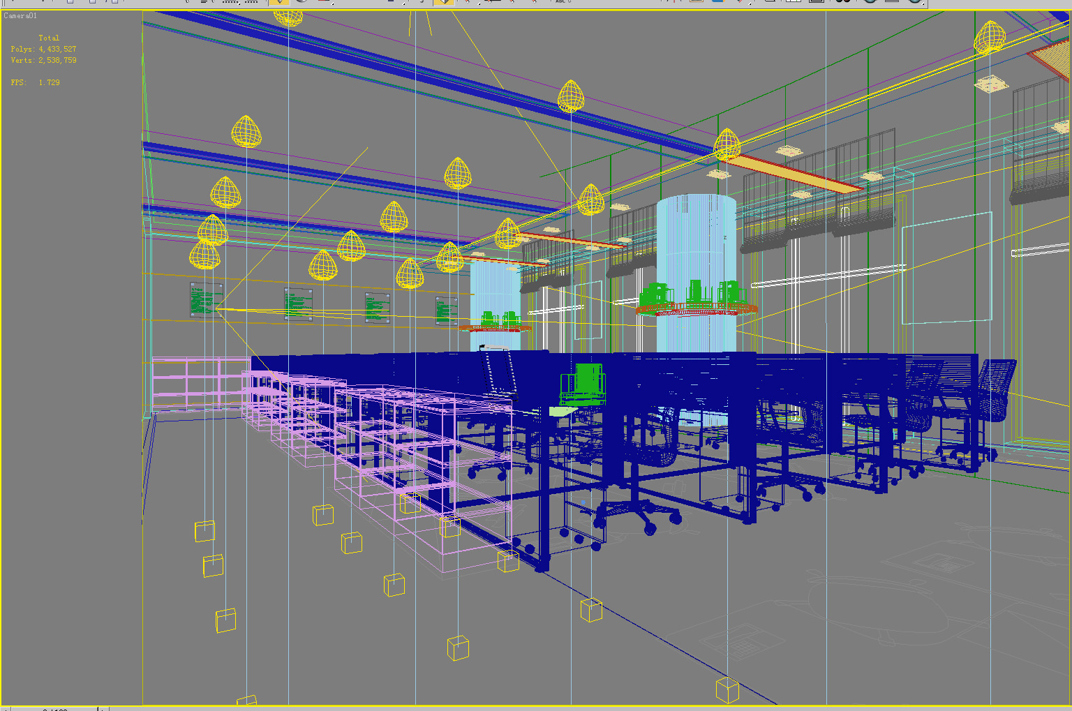 designer office space. Designer Office Space With Personal Booths 3d Model Max 2 O