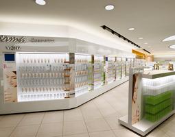 exquisite cosmetic store 3d