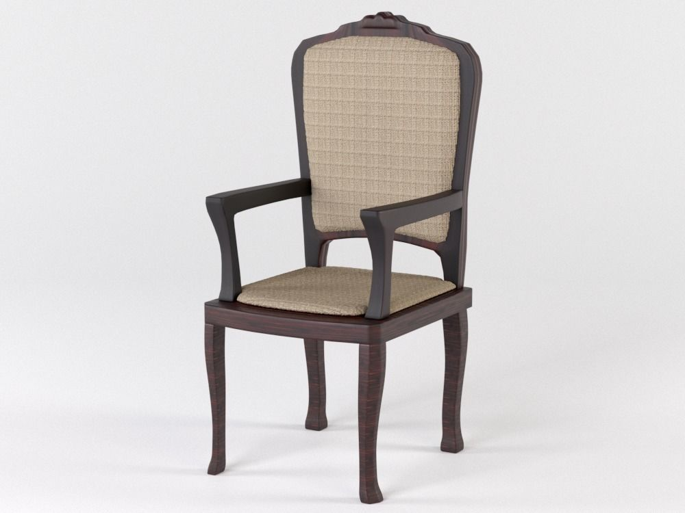 Wooden chair with upholstery