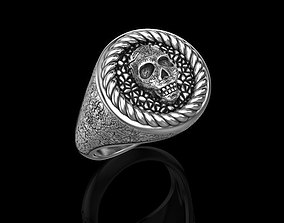 Ring with a skull 3D printable model
