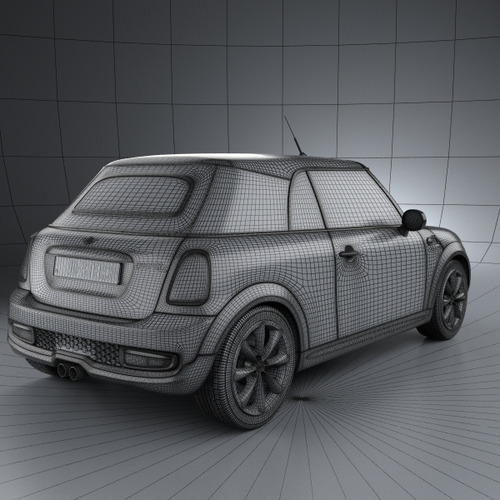 3d Model Of Mini Cooper Convertible 2014: Mini Cooper S Convertible 2011 3D Model MAX OBJ 3DS FBX