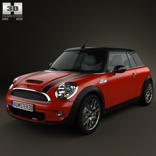 3d Model Of Mini Cooper Convertible 2014: Mini John Cooper Works Convertible 2011 3D Model MAX OBJ