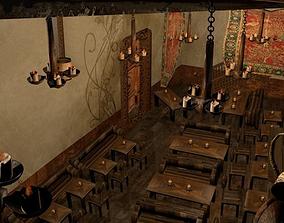 Medieval Tavern 3D asset