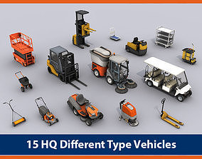 3D model Vehicles Collection 03 - Low Poly