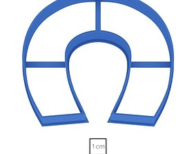 Horseshoe cookie cutter for 3D printable model