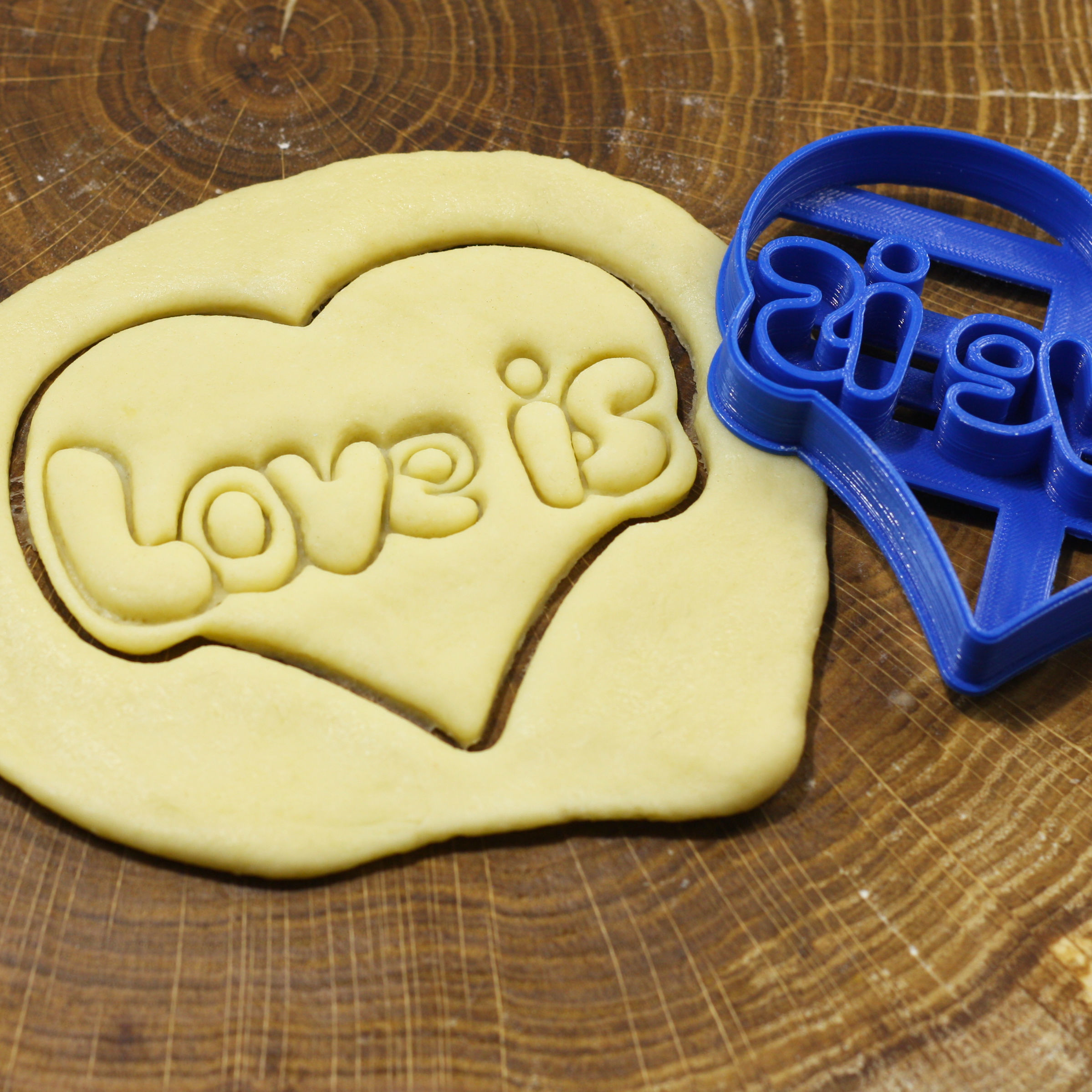 Stamp LOVE IS cookie cutter for professional