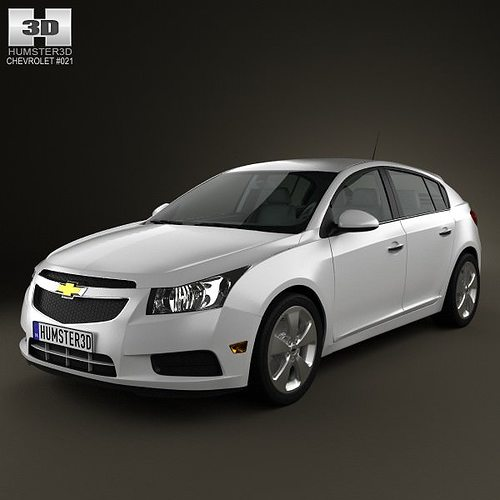 chevrolet cruze j300 hatchback 2012 3d model max obj mtl 3ds fbx c4d lwo lw lws 1