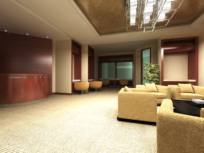 3d bank space with designer sofa cgtrader - Sofas small spaces model ...