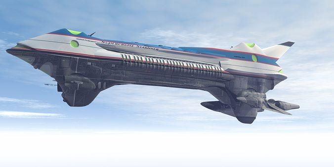 supercruise starliner 3d model obj 1