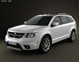 dodge journey 2011 3d model max obj 3ds fbx c4d lwo lw lws